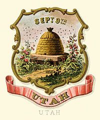 Utah territory coat of arms