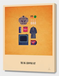 """""""The Big Lebowski Kit"""", Limited Edition Canvas Print by Alizée Lafon - From $85.00 - Curioos"""