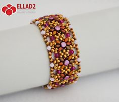Make this beautiful bracelet with Pellet, Superduo beads and Swarovski bicones… It is not taking a lot of time to finish. Skill Level: Intermediate. The most important thing for this bracelet is TENSION! Beading Tutorial for Amaris Bracelet is very detailed, easy to follow, step by step,
