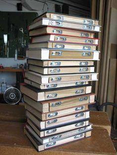 floating book as shelf