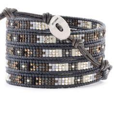 Chan Luu - Grey Mix Wrap Bracelet on Natural Grey Leather, $210.00 (http://www.chanluu.com/wrap-bracelets/grey-mix-wrap-bracelet-on-natural-grey-leather/)
