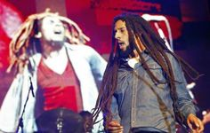 Julian Marley, son of the late reggae icon Bob Marley, performs at a concert celebrating his father's 69th birthday at the National Stadium in Kingston, February 7, 2014.