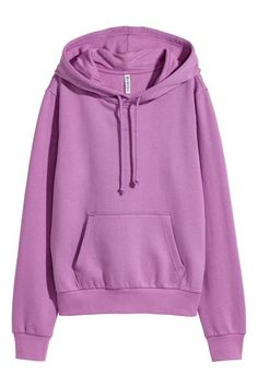 Long-sleeved top in sweatshirt fabric with a jersey-lined drawstring hood, kangaroo pocket and ribbing at the cuffs and hem. Hoodie Sweatshirts, Ropa Color Pastel, Trendy Hoodies, Casual Outfits, Cute Outfits, Teen Girl Fashion, Kawaii Clothes, Long Sleeve Tops, Fashion Online