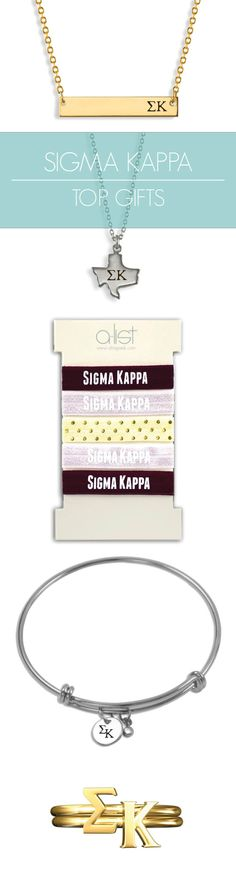 Top Sigma Kappa Gifts for you and your sisters! This season's must-haves for all things EK // #sorority www.alistgreek.com