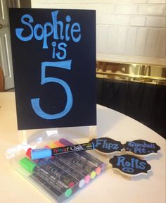 Make fantastic birthday signs and food labels with Wonder Chalk Liquid Chalk Markers!