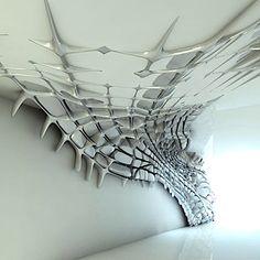 neuromaencer:  graphic spiderweb