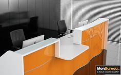 MonBureau.ch - Desk - Wave - MDD - Réception design - Meuble de réception - Meuble d'accueil - Accueil - Espace de travail