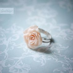 Rose ring  Pale pink blooming flower  romantic by Goodthings88, $23.00