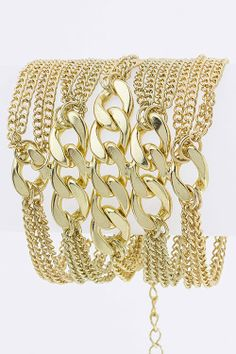Multilayered Chain Bracelet (Gold Tone) - $17