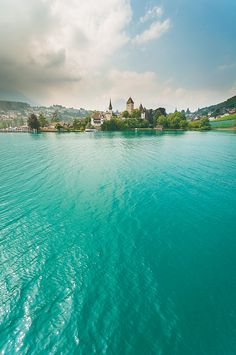 The beautiful water of Spiez, Switzerland is calling my name. Would love to travel here this summer! Places Around The World, Oh The Places You'll Go, Places To Travel, Travel Destinations, Places To Visit, Travel Stuff, Dream Vacations, Vacation Spots, Voyage Europe