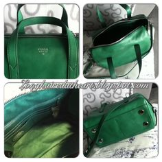 Purses handbags purse handbag tasche crossbody bowling bag satchel sydney satchel fossil teal emerald green grün smaragd jewel tones bright colors colorful strap leather  2013 2014 winter fall unique classy vintage keyper lilac purple violet quilt fabric top handle Fossil Handbags, Bowling Bags, Teal, Purple, Jewel Tones, Emerald Green, Purses And Handbags, Bright Colors, Sydney