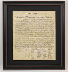 Framed Declaration of Independence with Black Matte