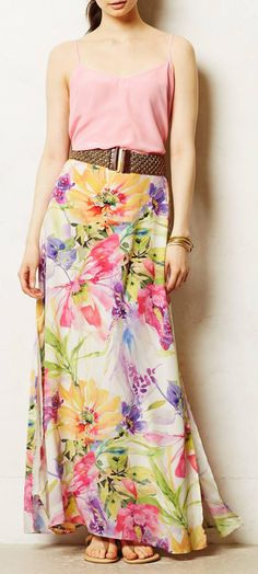 Anthropologie  Vastflora Maxi Skirt