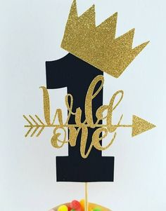 Wild One Cake Topper Wild One Birthday Party Decorations 1st Birthday Cake Topper First Birthday Cake Topper Gold Glitter Cake Topper Black by EclecticNessy on Etsy https://www.etsy.com/uk/listing/552582834/wild-one-cake-topper-wild-one-birthday #GlitterCake