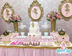 """Bailarinas"" #sweetlabrd Ballerina Birthday Parties, Girls Birthday Party Themes, Princess Birthday, Baby Birthday, Princess Party Decorations, Birthday Party Decorations, Shower Party, Baby Shower Parties, Ballerina Baby Showers"