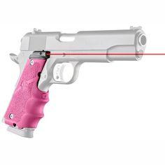 LE Government Rubber Laser Grip w-Finger Grooves - Pink