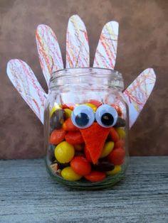 Toddler Hand Turkey Candy Jar {Kids Craft Contributor}