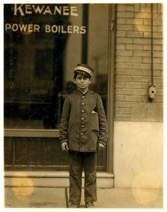 Lewis Hine: Messenger boy, St. Louis, 1910 by trialsanderrors, via Flickr