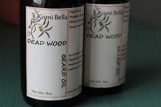 Dead Wood Beard Oil/Conditioner/Pre-Shave Oil - 4oz Handsome Amber Spray Glass Bottle