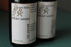 Dead Wood Beard Oil/Conditioner/Pre-Shave Oil - 4oz Handsome Amber Spray Glass Bottle