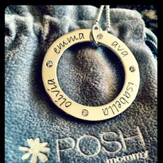 Classic POSH MOMMY birthstone loop. www.poshmommyjewelry.com