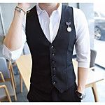 Men's Fashion Solid Casual Blazer,Linen Long Sleeve Black / Blue / Green / Orange / White All Seasons Men's Fashion Outerwear 2017 - Rs1391