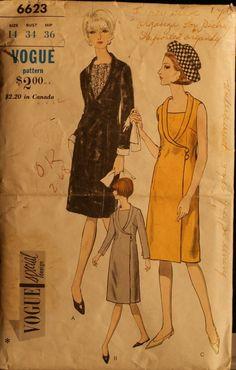 Vogue 6623 Misses Slim Dress with Neckline Detail by olivealley, $22.00