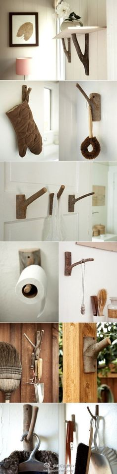 树枝的用处很多呢~——更多有趣内容,请关注@美好创意DIY (http://t.cn/zOR4l2D)