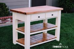 Butcher Block Kitchen Island | Do It Yourself Home Projects from Ana White