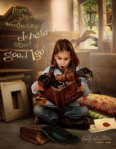 """""""There's something wonderfully delicious about a good book"""" """"Running Horses"""" ~ by Cindy Grundsten ~ Graphic Artist"""