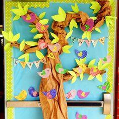 Tweet Hearts door decor! Also seen on Schoolgirl Style's website!