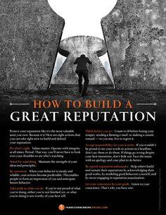 How to Build a Great Reputation I www.FrankSonnenbergOnline.com