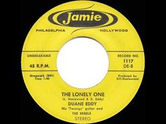 1959 HITS ARCHIVE: *The Lonely One* - Duane Eddy - YouTube