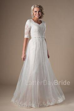 modest lds wedding d
