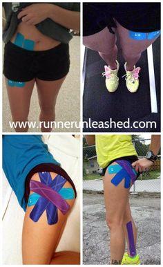 Hip Flexor Pain: taping for hip flexor pain Kt Tape Hip Flexor, Hip Flexor Pain, Hip Flexor Exercises, Tight Hip Flexors, Flexibility Exercises, Hip Stretches For Runners, Best Hip Stretches, Easy Stretches, K Tape
