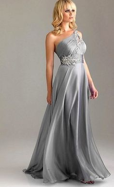 New One Shoulder Bridesmaid Evening Dress Formal Bridal Gown Sz 6 8 10 12 14 16 | eBay
