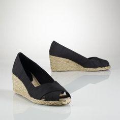 Lauren #wedge #shoes #sandals $44 (reg 79), Ralph Lauren has great wedges