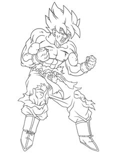 Dragon Ball Z Coloring Pages Super Saiyan 4 #1 | Ideas for the House ...
