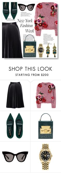 """Eclectic"" by doragal ❤ liked on Polyvore featuring Cusp by Neiman Marcus, Dolce&Gabbana, Subella London, Rolex, Dori Csengeri and NYFW"