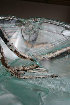 Glas and metal Sculptures, Metal, Corning Glass, Metals, Sculpture