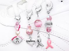 Breast Cancer Awareness Shoe Charms