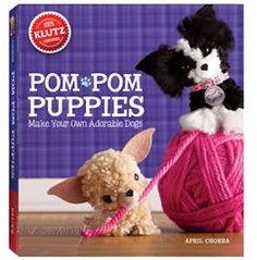 Make your own adorable dogs with Pom Pom Puppies. Turn a ball of yarn into a puppy with personality. Use the custom pom-pom tool to wrap, snap and snip your way to a perfect pom-pom. Pom-Pom Puppies from Klutz. Ages 8 to 12 years. Pom Pom Puppies, Fluffy Puppies, Pom Dog, Toy Puppies, Chihuahua Puppies, Yorkie, Craft Stick Crafts, Craft Kits, Diy And Crafts