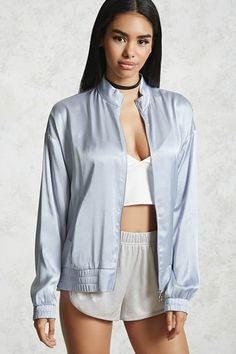 Product Name:Contemporary Satin Jacket, Category:CLEARANCE_ZERO, Price:29.9