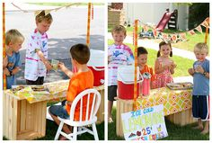 lemonade stands...had them and bought from others...we never made a profit, as we'd give some away to friends and eat and drink our products too.  :))  It was fun on a HOT day, though.