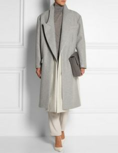 STELLA MCCARTNEY - Curtis Oversized, Two Tone Wool Blend Felt Coat