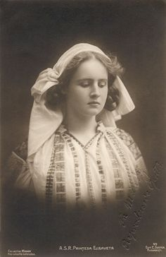 Princess Elisabeth (Elisaveta) of Romania, later Queen of Greece. She was born in 1894 and died in Queen Sophia, Princess Alexandra, Princess Beatrice, Princess Victoria, Queen Victoria, Adele, Romanian Royal Family, King George Ii, Prince Albert