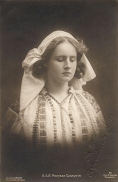Queen Marie of Romania Gallery / A.S.R. Prinţesa Elisaveta (Elisabeth) Postcard