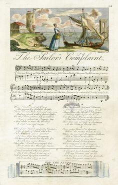 ⚓♡salt air⊰⛵  .   The Musical Entertainer by George Bickham 1737