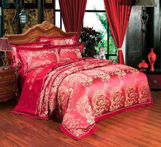 Power Source Adroit Solid Color Princess Bedspread Bedding Sets 4pcs Lace Bedclothes Bed Skirt Purple Duvet Cover Bedlinen Fitted Sheet Pillowcases