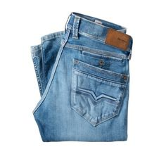 Jeans Spike, Used-Waschung, Destroyed-Effekte, schmales Bein, Used-Look Rückansicht